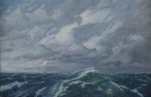 Meer, Öl, 105 x 65 cm