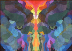 Mimikry I, Öl, 76 x 54 cm,