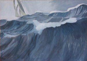 Monsterwelle, Öl, 67 x 47 cm