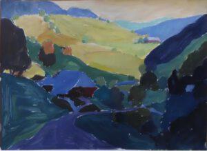Neuweg, Acryl, 70 x 50 cm