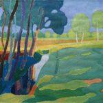 Niederung, Acryl, 70 x 50 cm