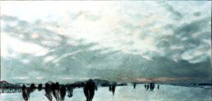 Nordheide, Öl, 165 x 80 cm