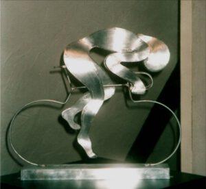 Radler, Zinkblech, 50 x 43 cm