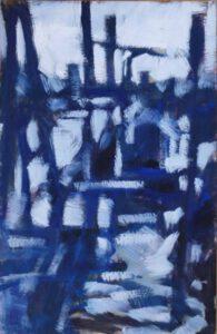 Reiherstieg, Acryl, 85 x 135 cm