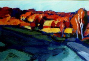 Rotes Tal, Acryl, 100 x 70 cm