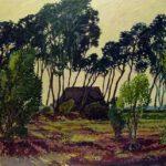 Schafstall, Acryl, 200 x 90 cm, Auftragsarbeit