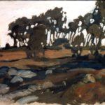Schafstall, Acryl, 40 x 30 cm