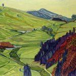 Schwarzwald, Acryl, 200 x 90 cm, Auftragsarbeit