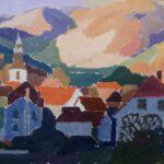 Schwarzwald, Acryl, 70 x 50 cm