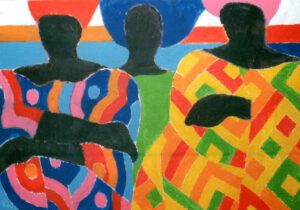 Senegal, Acryl, 100 x 70 cm