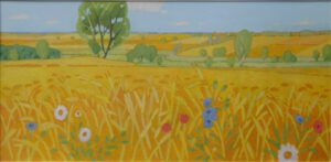 Sommer, Acryl, 190 x 90 cm, Auftragsarbeit