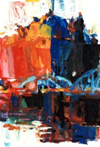 Speicherstadt, Acryl, 20 x 30 cm