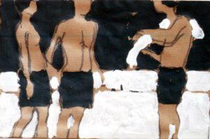 Strand II, Acryl, 30 x 20 cm