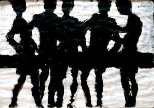 Strand III, Acryl, 100 x 70 cm