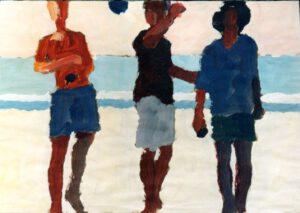 Strandspiel, Acryl, 100 x 70 cm