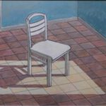 Stuhl, Acryl, 100 x 70 cm