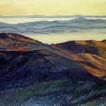 Ein Acrylbild von Max Holst mit einer Berglandschaft im Schwarzwald: Malerei für Öl-und Acryl-Bilder, Gemälde und Porträts, Grafikdesign und handgefertigte Objekte aus der Lüneburger Heide.