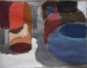 Töpfe, Acryl, 20 x 13 cm