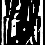 Verzapfung, Holzschnitt, 25 x 32 cm