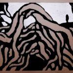Wacholder, Holzschnitt, 60 x 42 cm