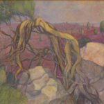 Ein Bild eines Wacholderbaums von Max Holst: Malerei für Öl-und Acryl-Bilder, Gemälde und Porträts, Grafikdesign und handgefertigte Objekte aus der Lüneburger Heide.