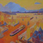 Wannsee I, Acryl, 70 x 50 cm