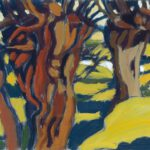 Ein Bild auf dem Weiden zu sehen sind von Max Holst: Malerei für Öl-und Acryl-Bilder, Gemälde und Porträts, Grafikdesign und handgefertigte Objekte aus der Lüneburger Heide.