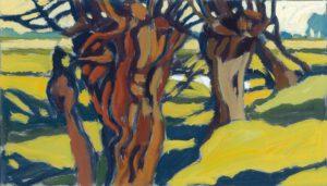 Weiden, Acryl, 120 x 90 cm, Auftragsarbeit