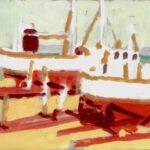 Werft II, Acryl, 30 x 20 cm