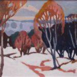 Bild einer Winterlandschaft von Max Holst: Malerei für Öl-und Acryl-Bilder, Gemälde und Porträts, Grafikdesign und handgefertigte Objekte aus der Lüneburger Heide.