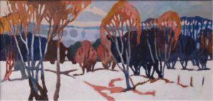 Winter, Acryl, 190 x 90 cm, Auftragsarbeit