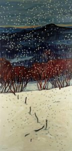 Winter, Acryl, 90 x 200 cm, Auftragsarbeit