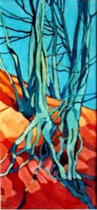 Bild von Max Holst, auf dem eine Buche zu sehen ist. Max Holst: Malerei für Öl-und Acryl-Bilder, Gemälde und Porträts, Grafikdesign und handgefertigte Objekte aus der Lüneburger Heide.