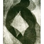 Bild von Max Holst mit abstrakten Formen in schwarz-weiß. Max Holst: Malerei für Öl-und Acryl-Bilder, Gemälde und Porträts, Grafikdesign und handgefertigte Objekte aus der Lüneburger Heide.